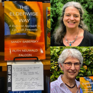 photo collage of The Elderwise Way book and two authors